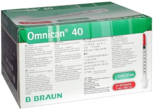 Omnican 40 Insulin Kanüle Spritze