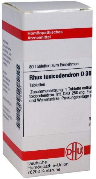 Rhus Toxicodendron D30 80 Tabletten