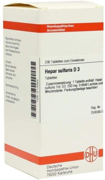 Hepar Sulfuris D3 Dhu 200 Tabletten