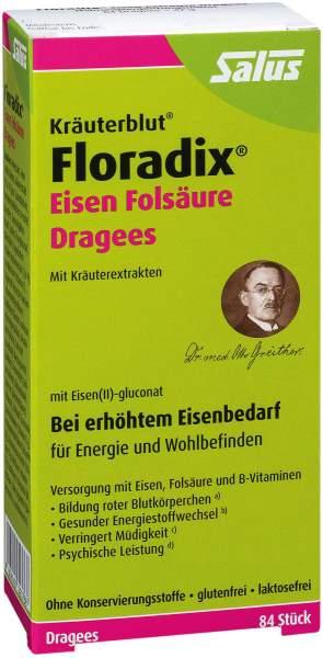 Floradix Eisen Folsäure 84 Dragees