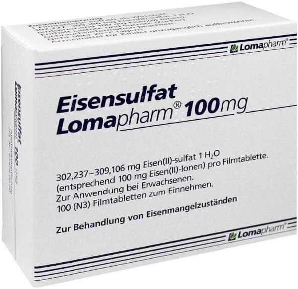 Eisensulfat Lomapharm 100 mg 100 Filmtabletten