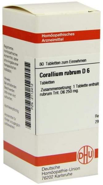 Corallium Rubrum D6 80 Tabletten