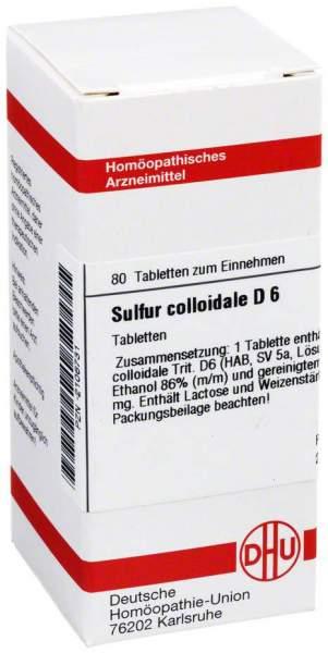 Sulfur Colloidale D6 Tabletten 80 Tabletten