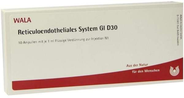 Wala Reticuloendotheliales Systeem Gl D30 10 X 1 ml Ampullen