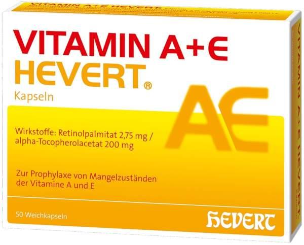 Vitamin A + E Hevert 50 Kapseln