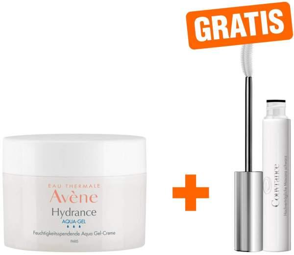 Avene Hydrance Aqua-Gel 50 ml + gratis Couvrance Mascara schwarz 3 ml