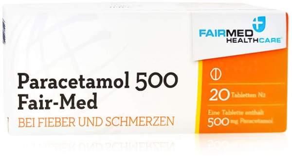 Paracetamol 500 Fair Med 20 Tabletten
