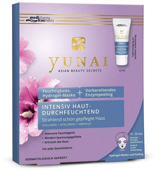 Yunai Feuchtigkeits - Hydrogel - Maske mit vorbereitendem Enzympeeling