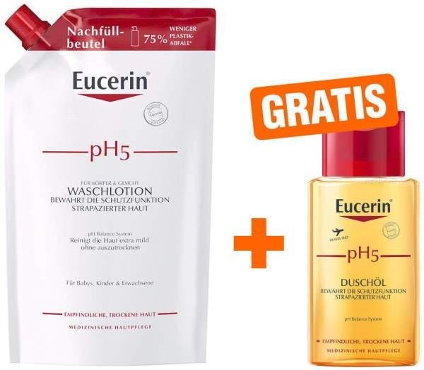 Eucerin pH5 Duschöl 400 ml Nachfüllbeutel empfindliche Haut + gratis 100 ml