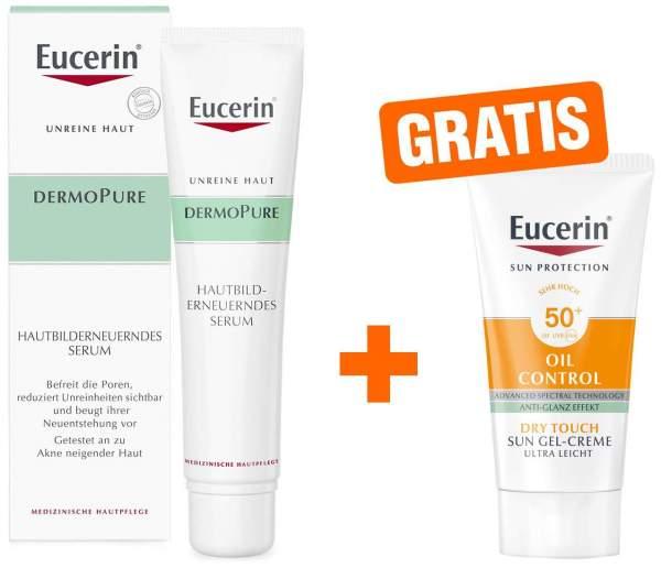 Eucerin DermoPure 40 ml hautbilderneuerndes Serum + gratis Sun Gel-Creme 50+ 20 ml Gesicht