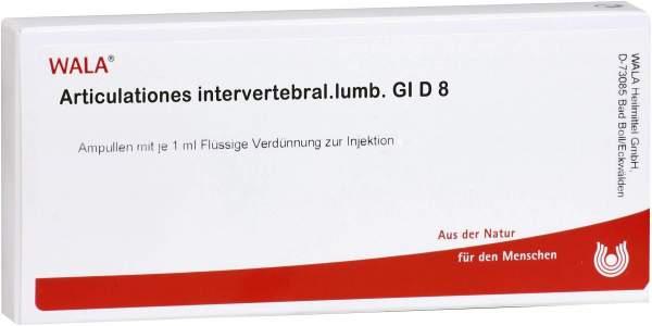 Wala Articulationes Intervertebrales Lumbales Gl D8 10x1ml