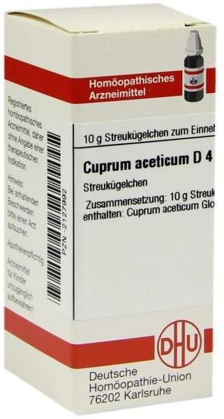 Cuprum Aceticum D 4 Globuli