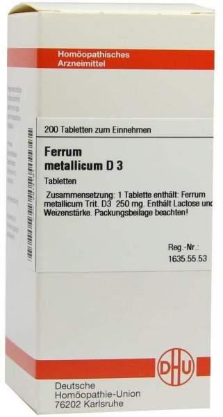 Ferrum Metallicum D 3 200 Tabletten