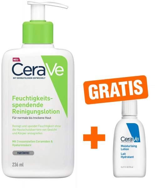 CeraVe feuchtigkeitsspendende Reinigungslotion 236 ml + gratis Feuchtigkeitslotion 20 ml