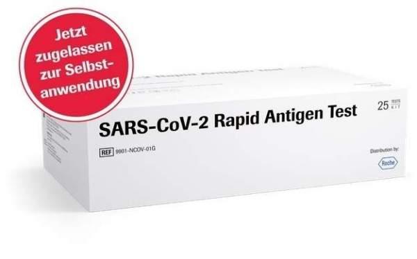 Roche Rapid Sars-CoV-2 Antigentest mit Laienzulassung 25 Stück