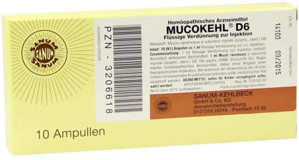 Mucokehl Ampullen D6 10x1 ml Ampullen