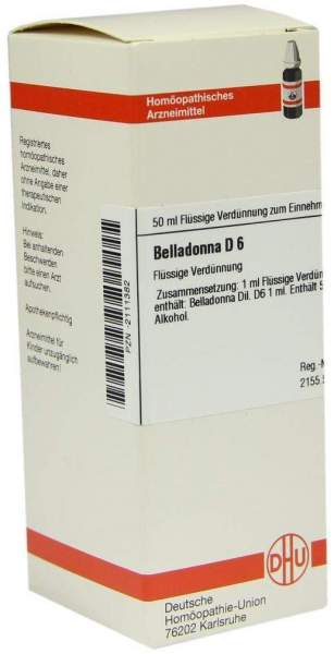 Belladonna D6 50 ml Dilution