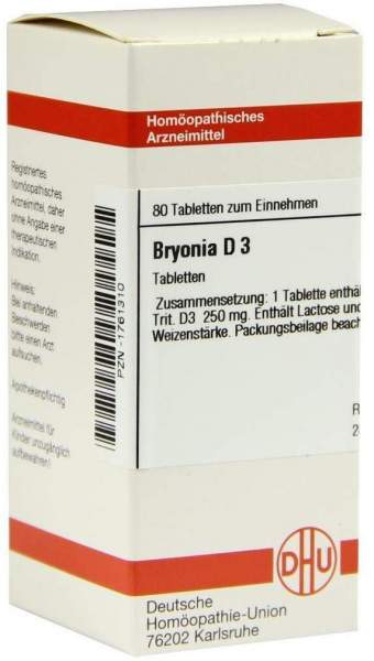 Bryonia D 3 80 Tabletten