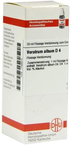 Veratrum Album D4 Dhu 20 ml Dilution