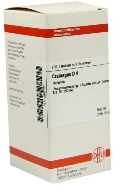 Crataegus D4 200 Tabletten