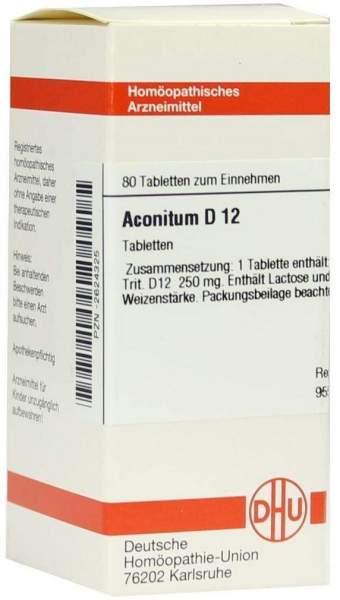Aconitum D12 Tabletten 80 Tabletten