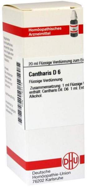Cantharis D 6 20 ml Dilution