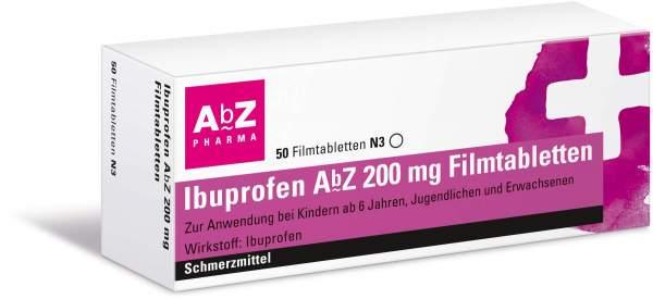 Ibuprofen AbZ 200 mg 50 Filmtabletten