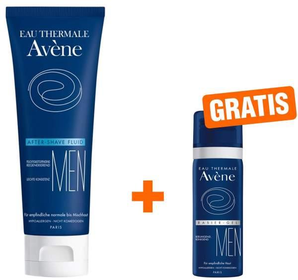 Avene Men After-Shave Fluid 75 ml + gratis Rasiergel 25 ml