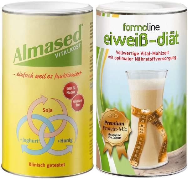 Almased + Formoline Eiweiß Diät 2er Set 980 g