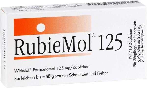 Rubiemol 125 Säuglings-Suppositorien