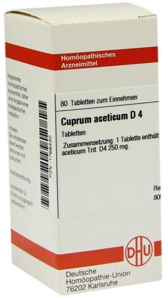 Cuprum Aceticum D 4 80 Tabletten
