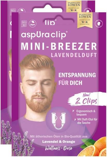 Aspuraclip Mini-Breezer Lavendel 2 x 2er Set
