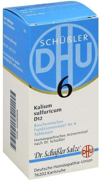 Biochemie Dhu 6 Kalium Sulfuricum D12 Tabletten 200 Tabletten