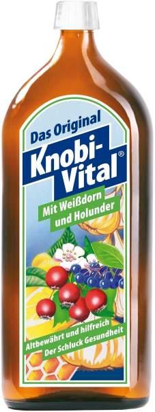 Knobivital Weißdorn und Holunder 960 ml Flasche