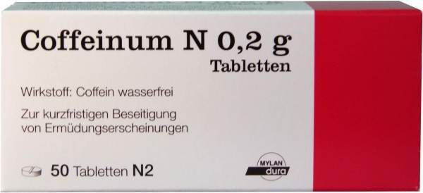 Coffeinum N 0,2 g 50 Tabletten