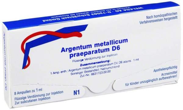 Argentum metallicum praeparatum D 6 Weleda 8 Ampullen