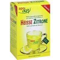 Apoday Heisse Zitrone Vitamin C und Calcium zuckerfrei Pulver 10 x 10 g Beutel