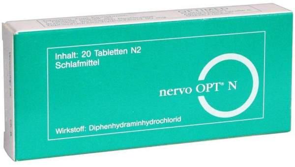 Nervo Opt N Tabletten 20 Tabletten