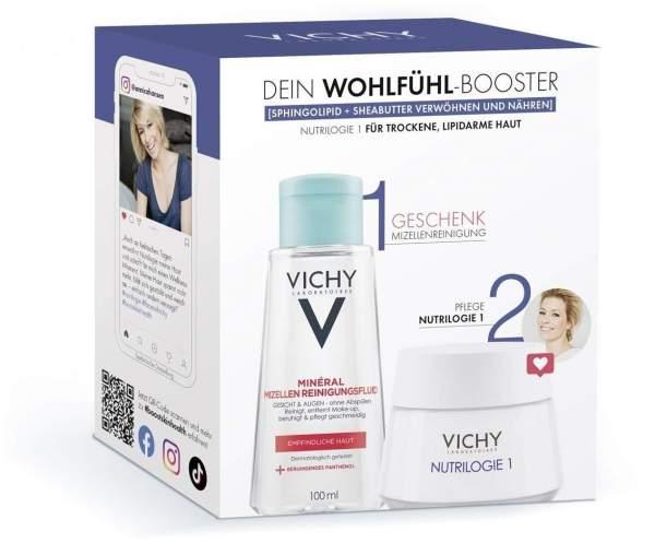 Vichy Nutrilogie 1 Routineset + gratis Purete Thermale Mineral Mizellen Reinigungsfluid 100 ml