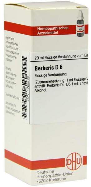 Berberis D6 20 ml Dilution