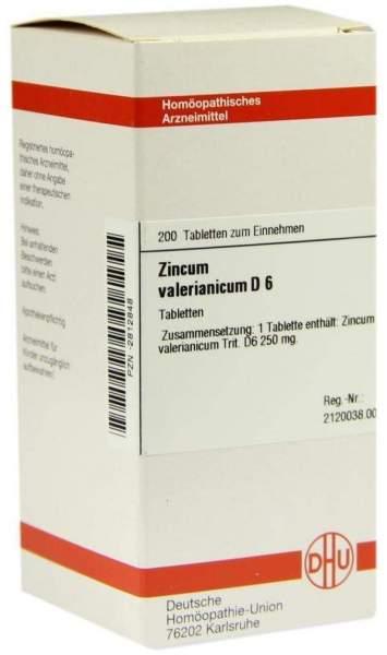 Zincum Valerianicum D 6 200 Tabletten
