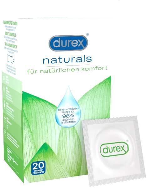 Durex Naturals Kondome mit Gleitgel 2 x 10 Stück