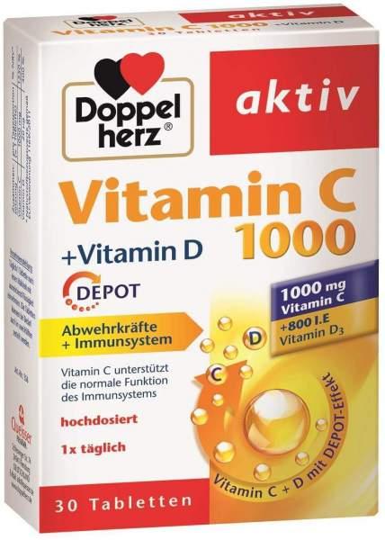 Doppelherz Vitamin C 1000 + Vitamin D Depot aktiv