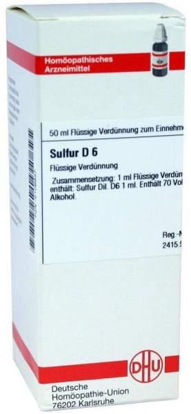 Sulfur D6 Dhu 50 ml Dilution