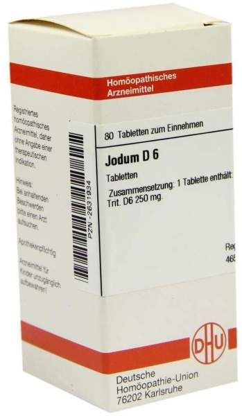 Jodum D 6 80 Tabletten