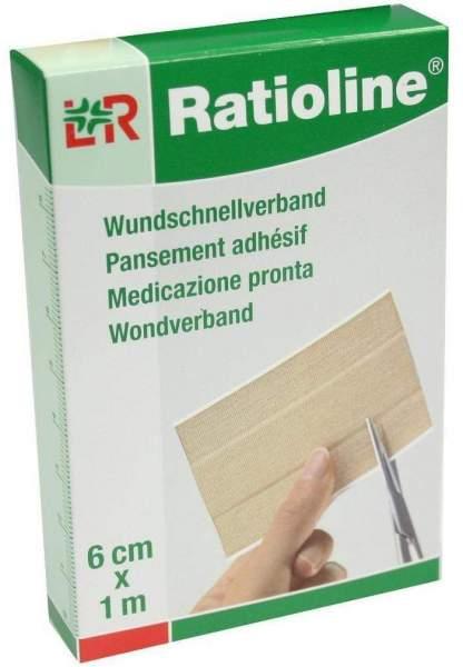 Ratioline Elastischer Wundschnellverband 6 cm x 1 m 1 Packung
