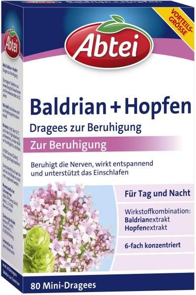 Abtei Baldrian + Hopfen 80 Dragees zur Beruhigung