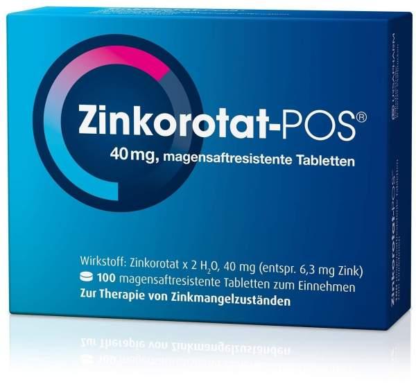 Zinkorotat POS 100 magensaftresistente Tabletten