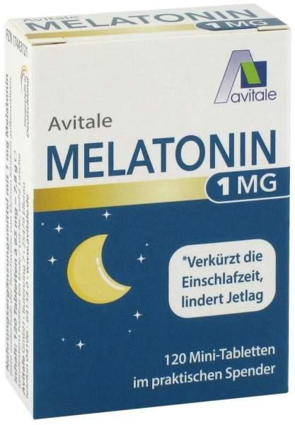 Melatonin 1 mg im Spender 120 Mini-Tabletten