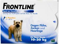Vorschau: Frontline Spot On Hund M 10-20kg 6 Lösungen